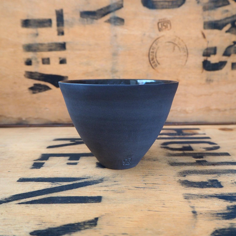 Black Porcelain Teabowl By Anja Graefe