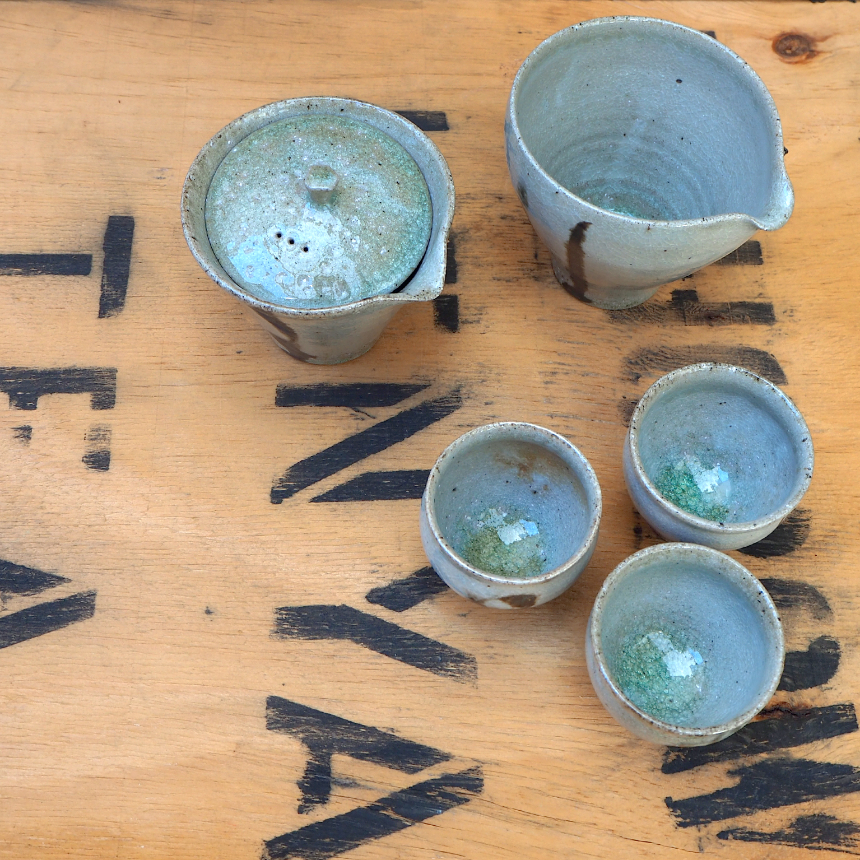 Shino Gong Fu Tea Set (2) by Popalini & Jezando