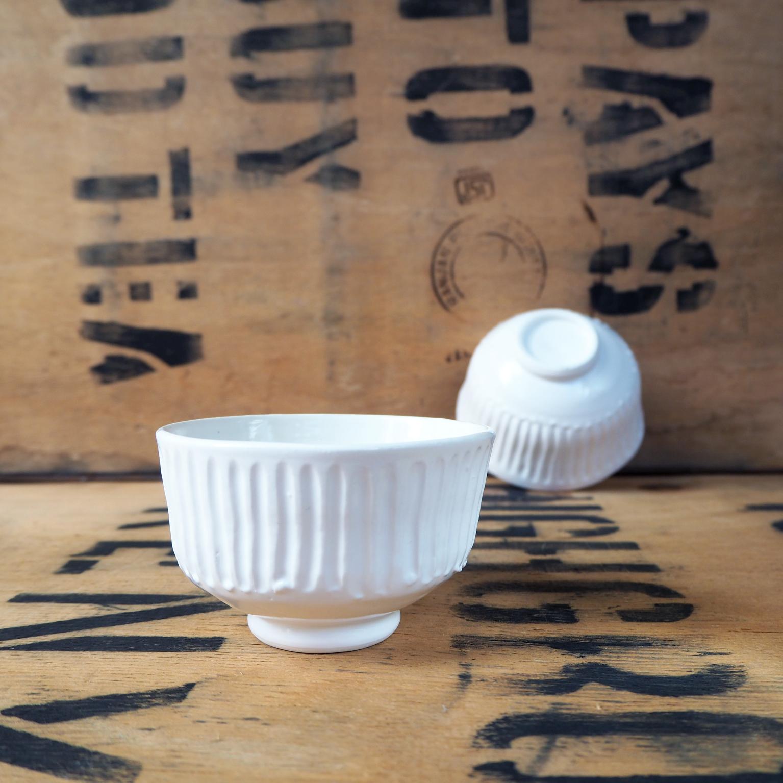 Porcelain Fluted Teabowl By Anja Graefe