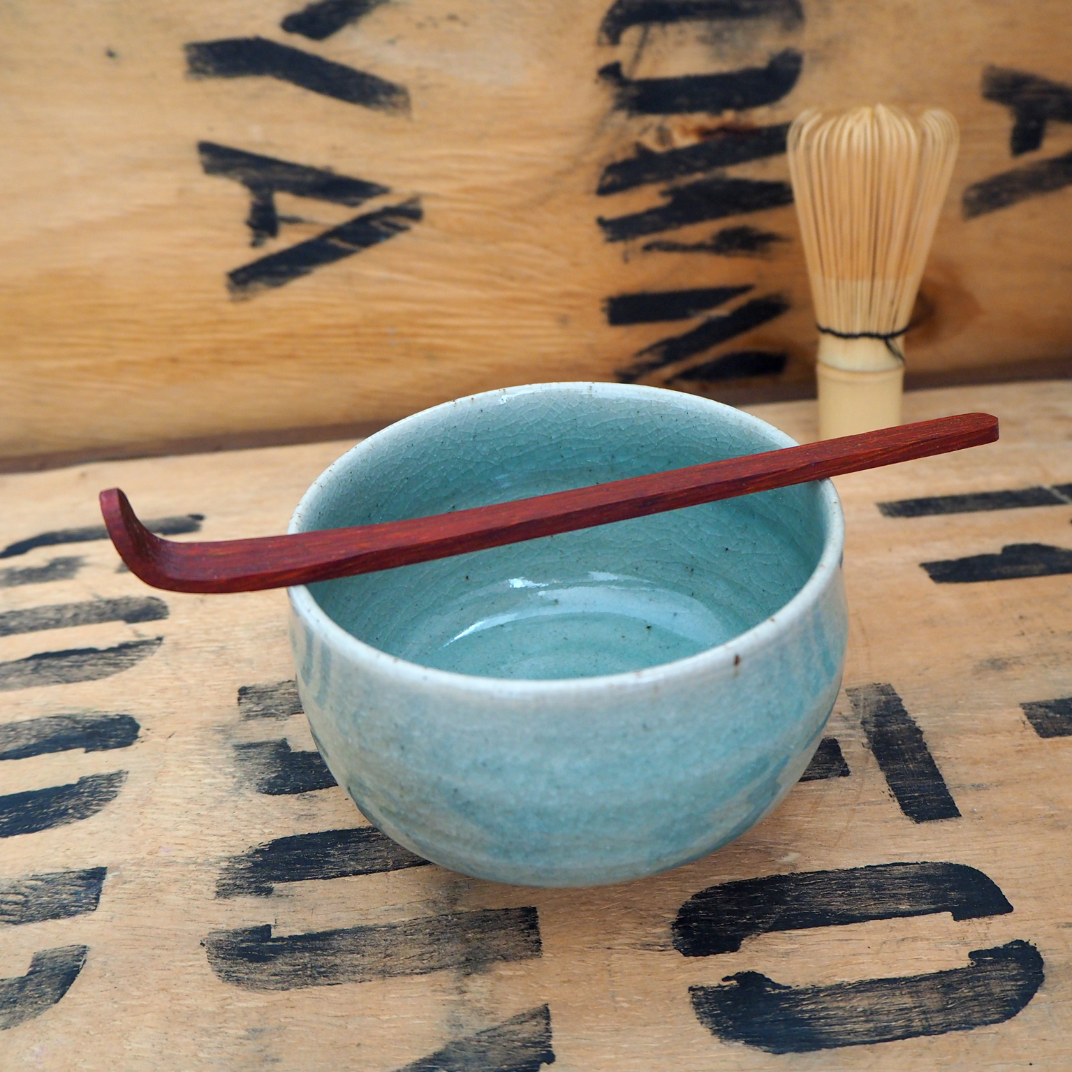 Padauk Chashaku (Matcha Scoop) by Rosie Brewer
