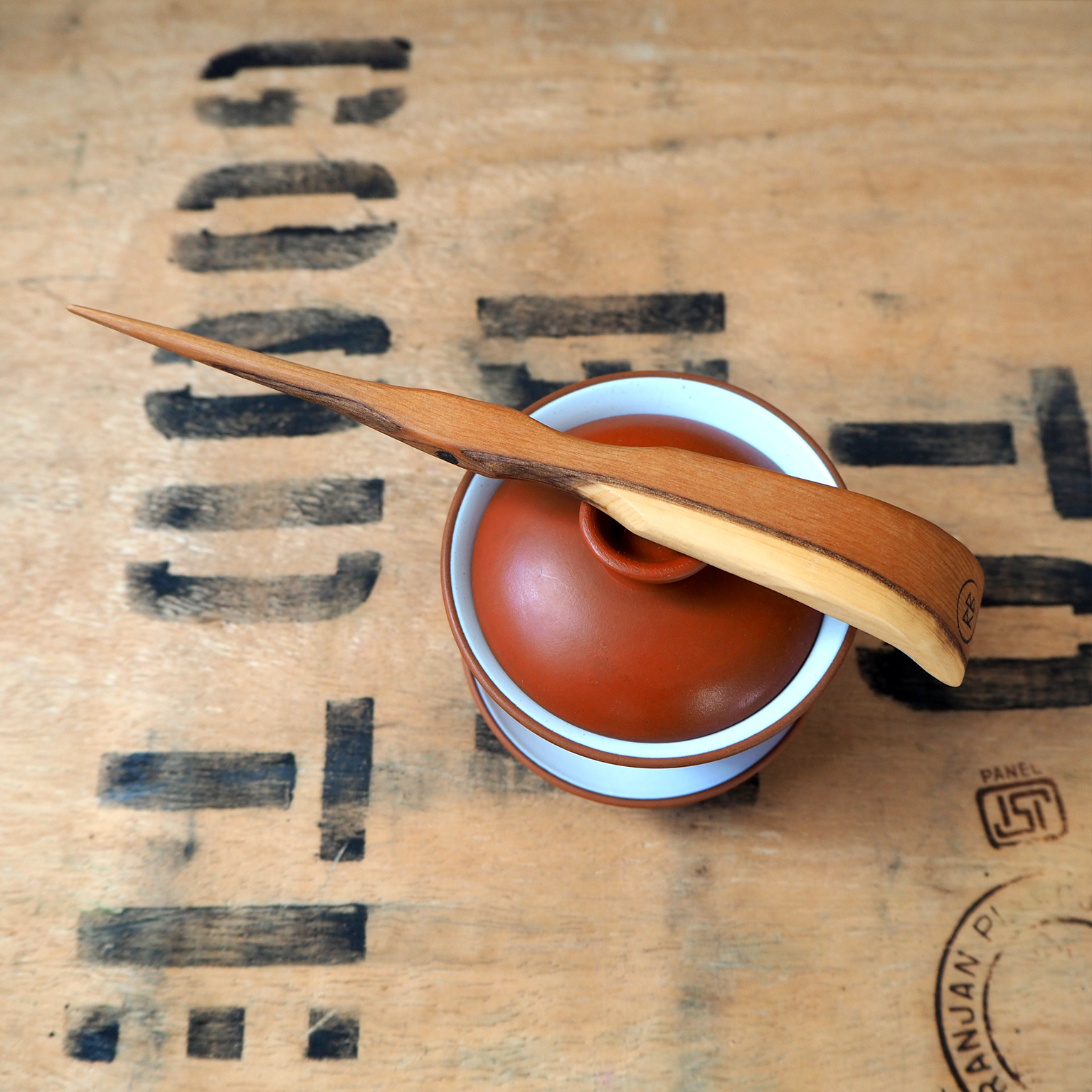 Yew Tea Needle For Gong Fu Ceremony by Rosie Brewer