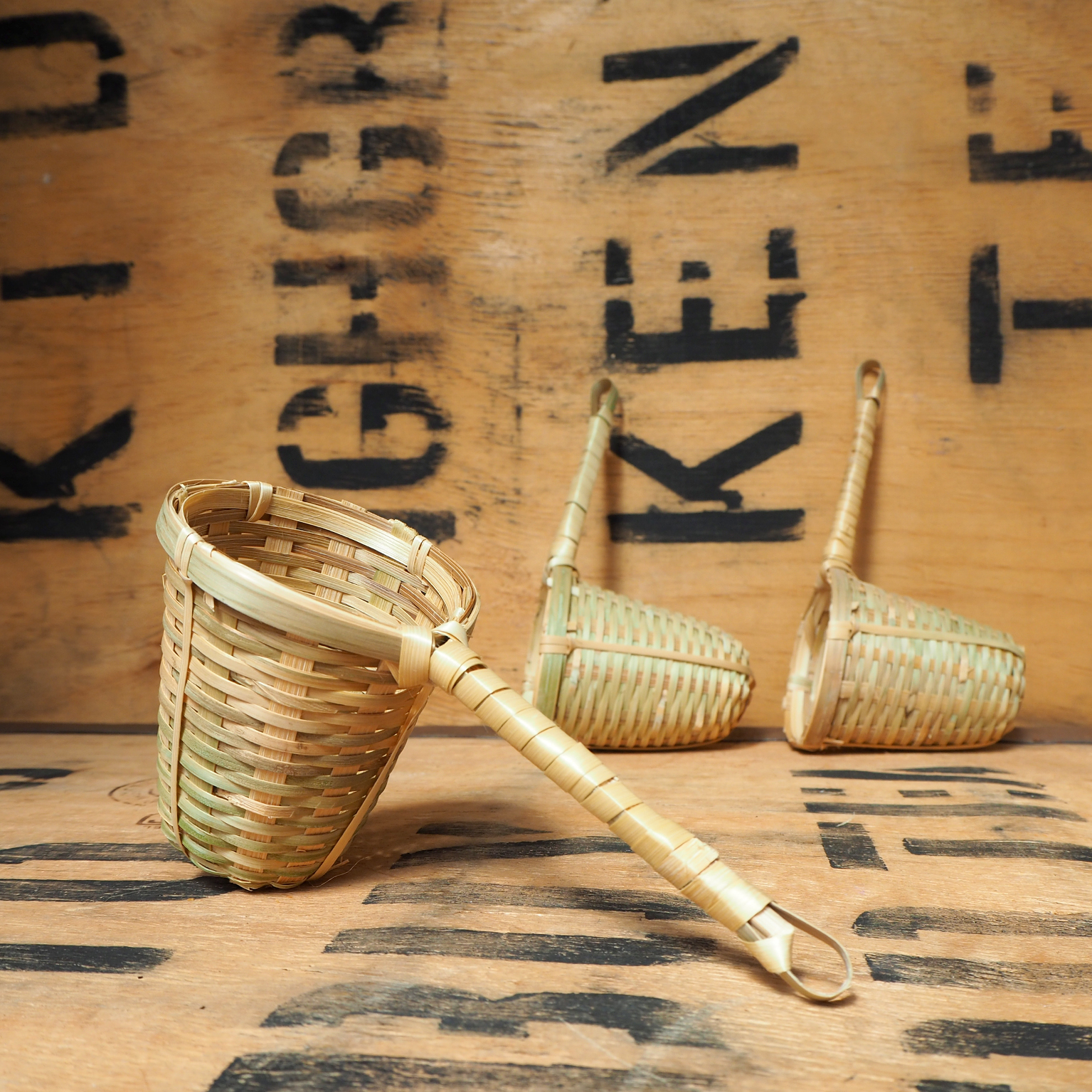Tea Strainer ~ Bamboo Basket