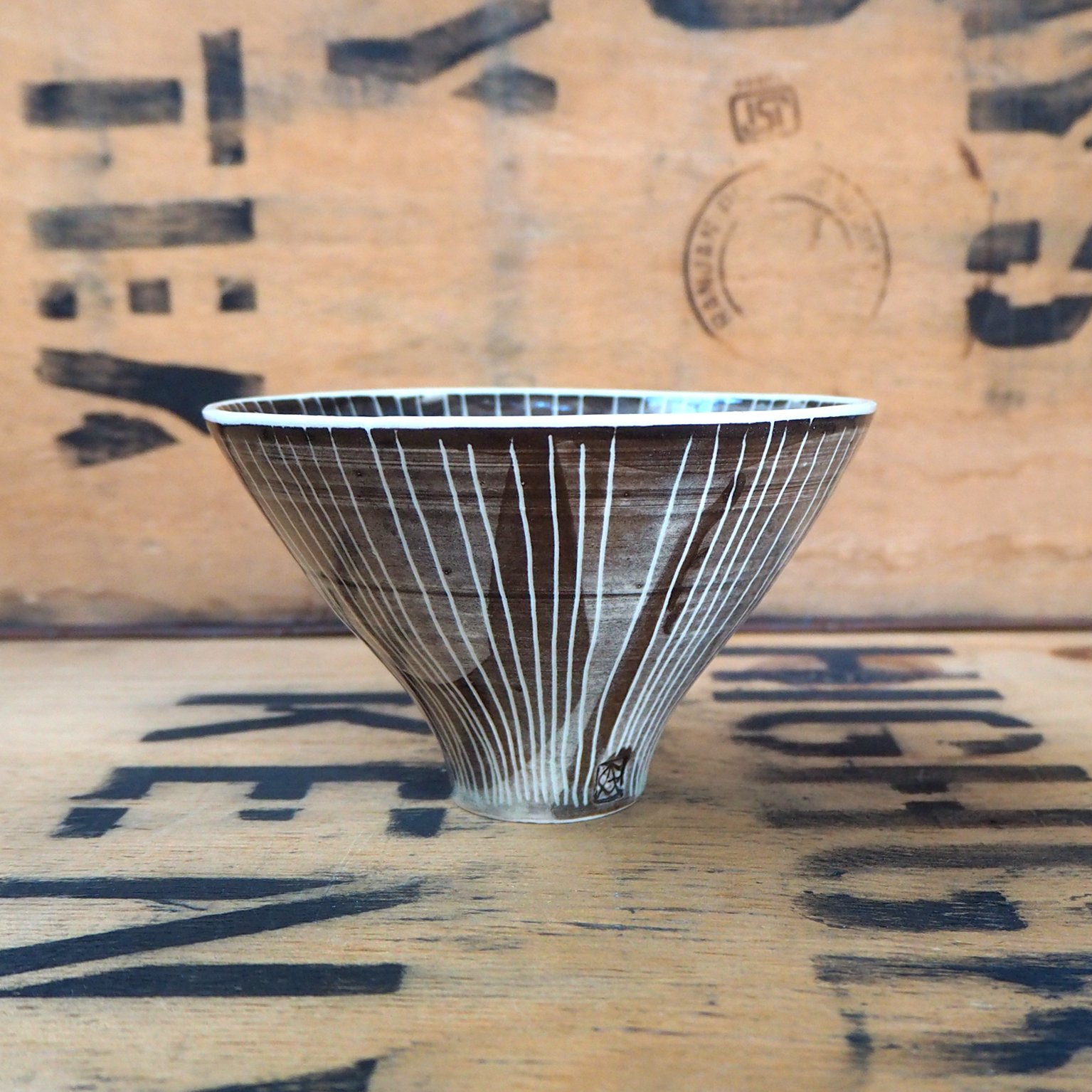 Large Conical Teabowl By Anja Graefe