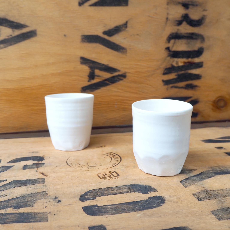 Porcelain Small Beaker (2) by Anja Graefe
