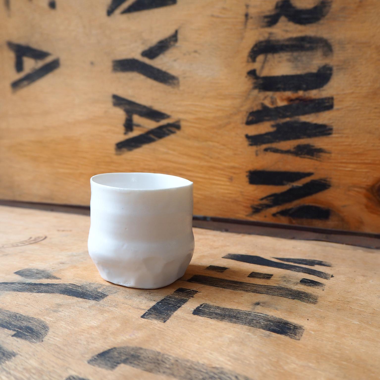 Porcelain Small Beaker (4) by Anja Graefe