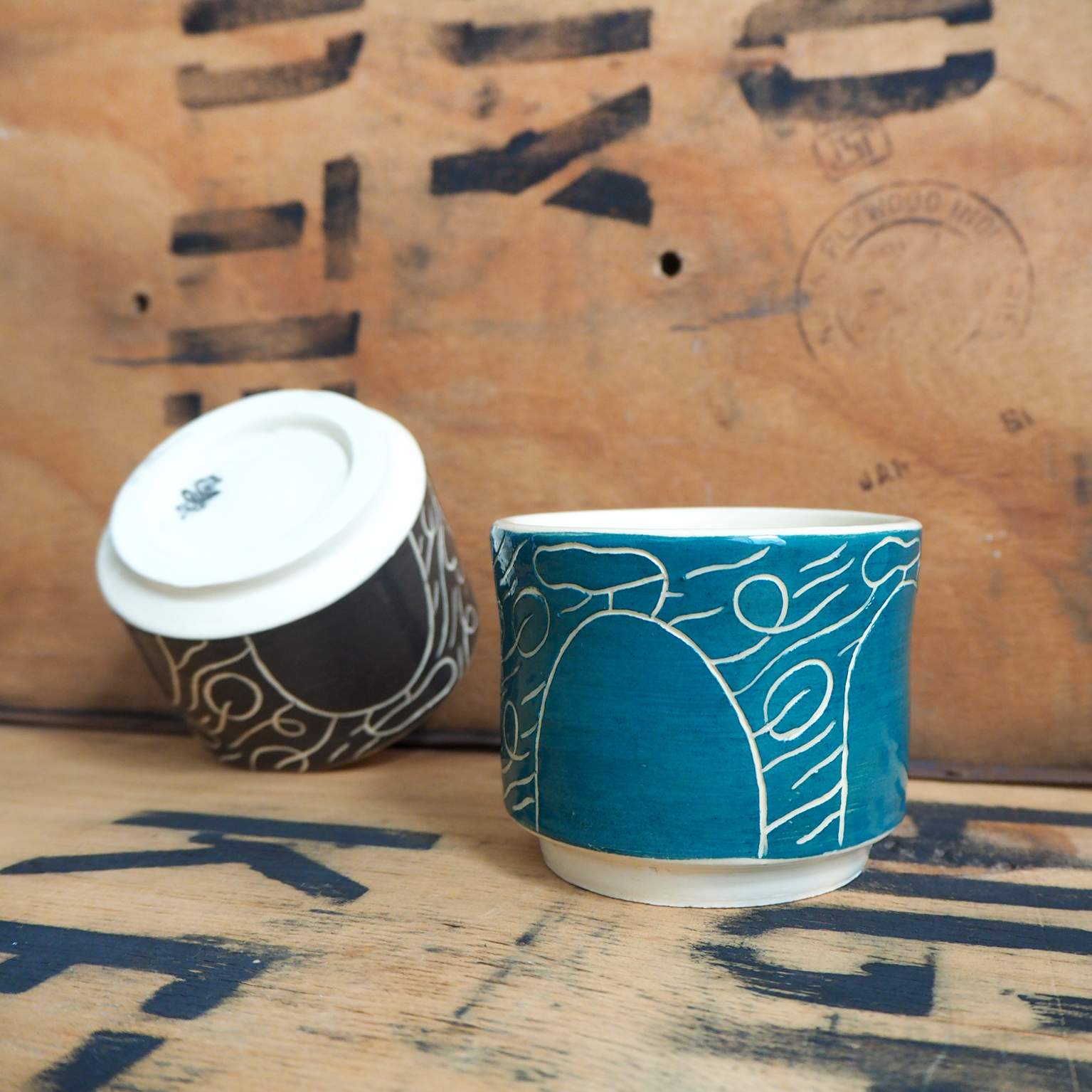 Teal Windy Day Cup By Scotty Gillespie