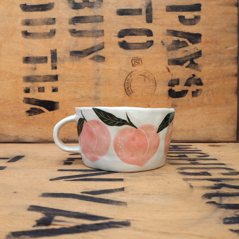 Peach Mug by Som's Clay