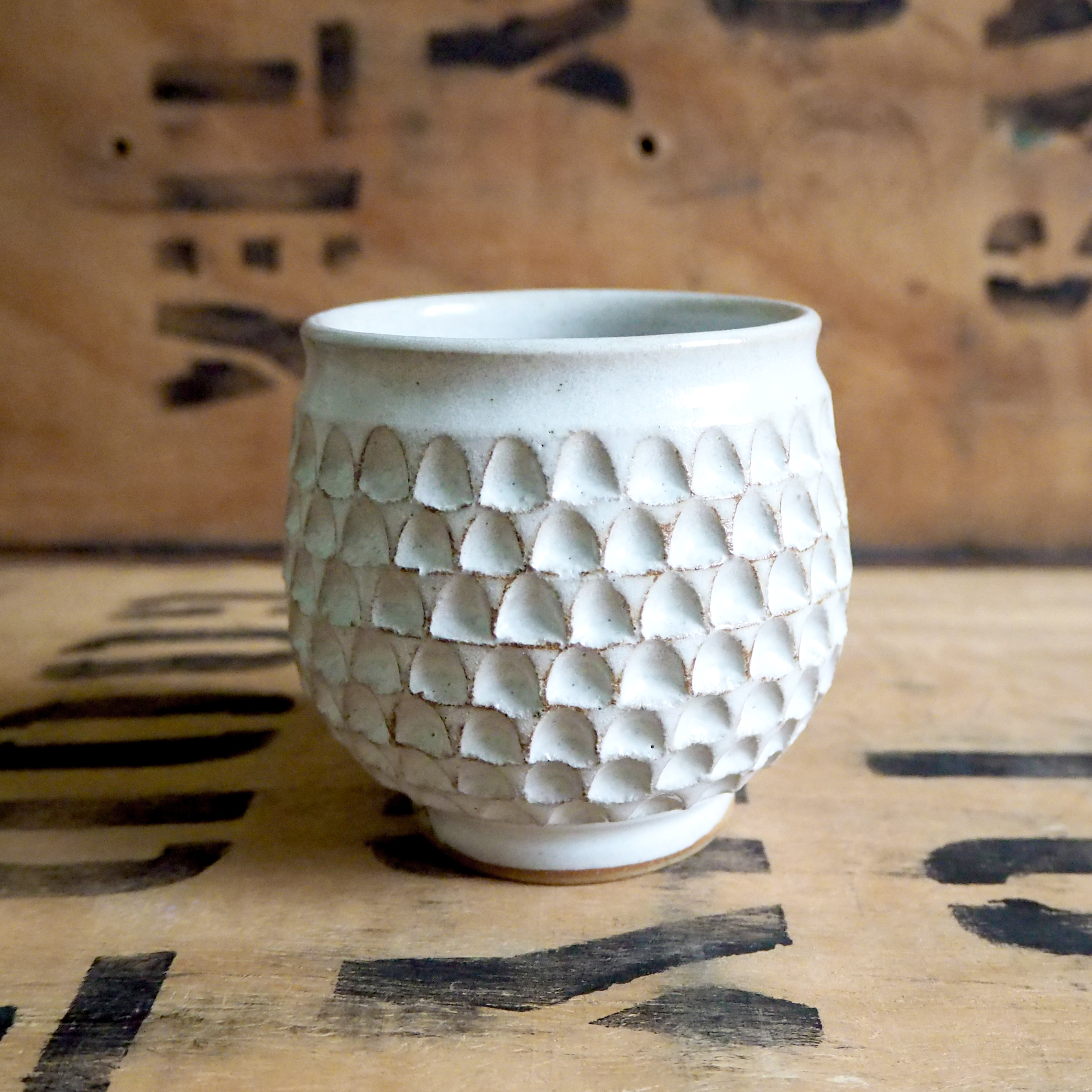Notched Yunomi Tea Cup By Robyn Cove