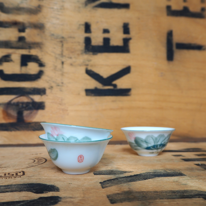 Lily Lotus Porcelain Teabowl ~ 25ml
