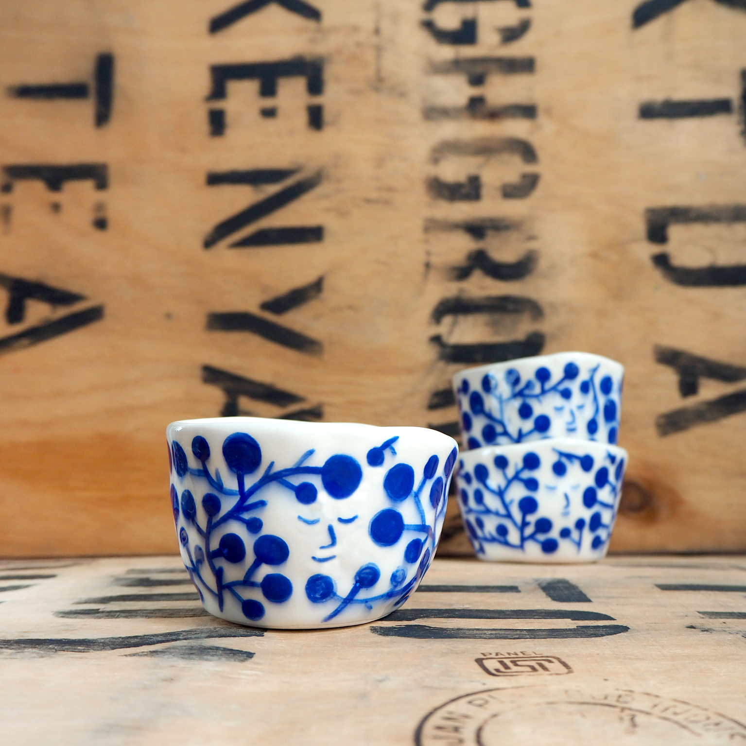 Blue Flower Cup By Scotty Gillespie