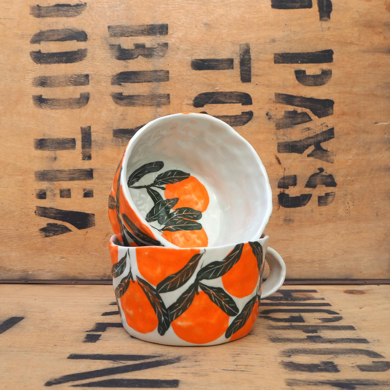 Orange Mug by Som's Clay