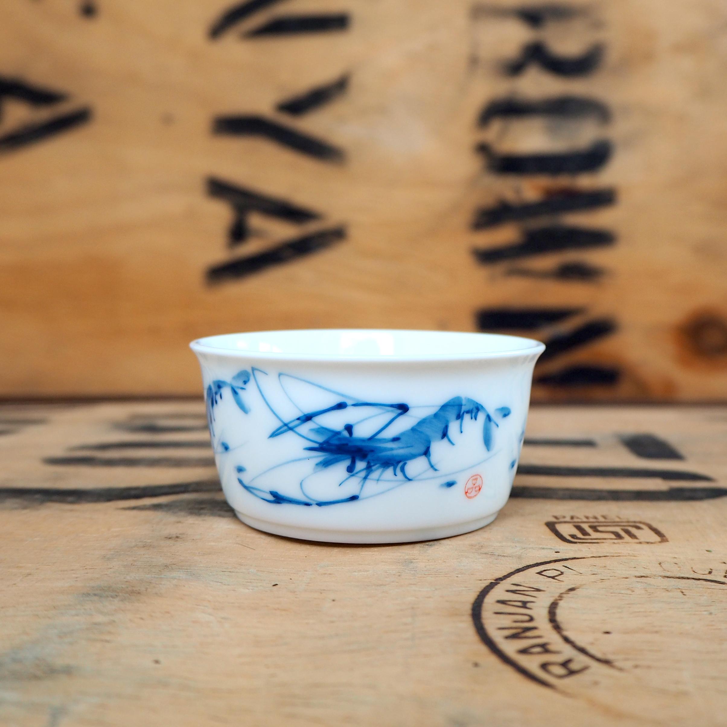 Shrimp Qi Baishi Porcelain Teabowl ~ 60ml