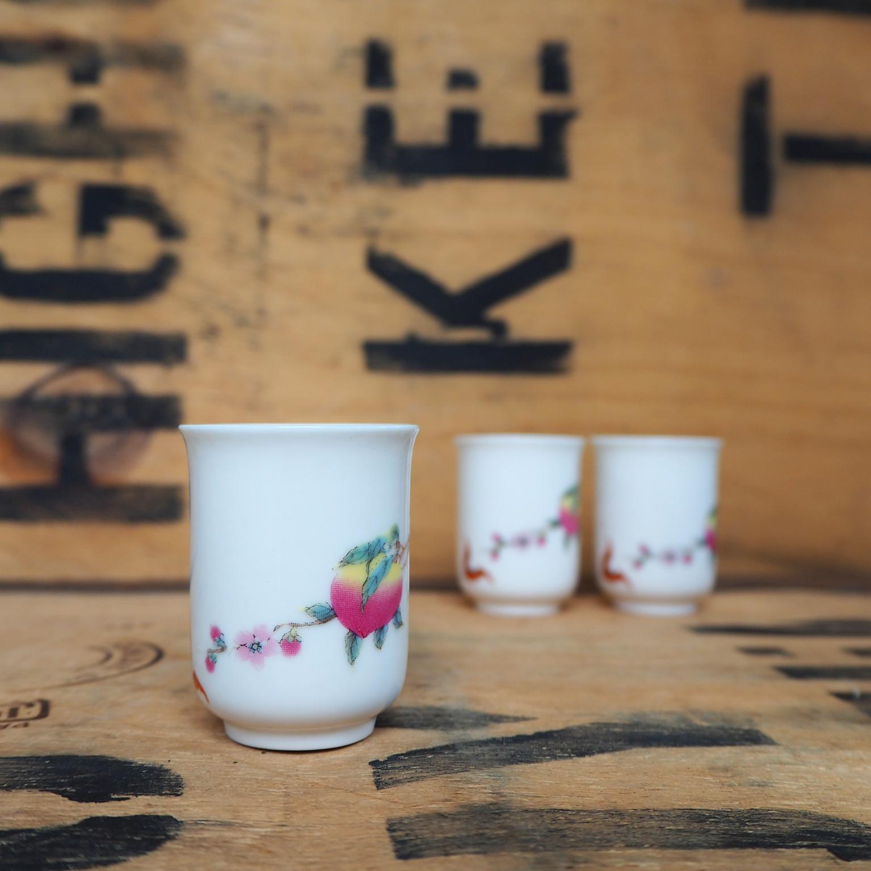 Peach Porcelain Aroma Teabowl ~ 30ml