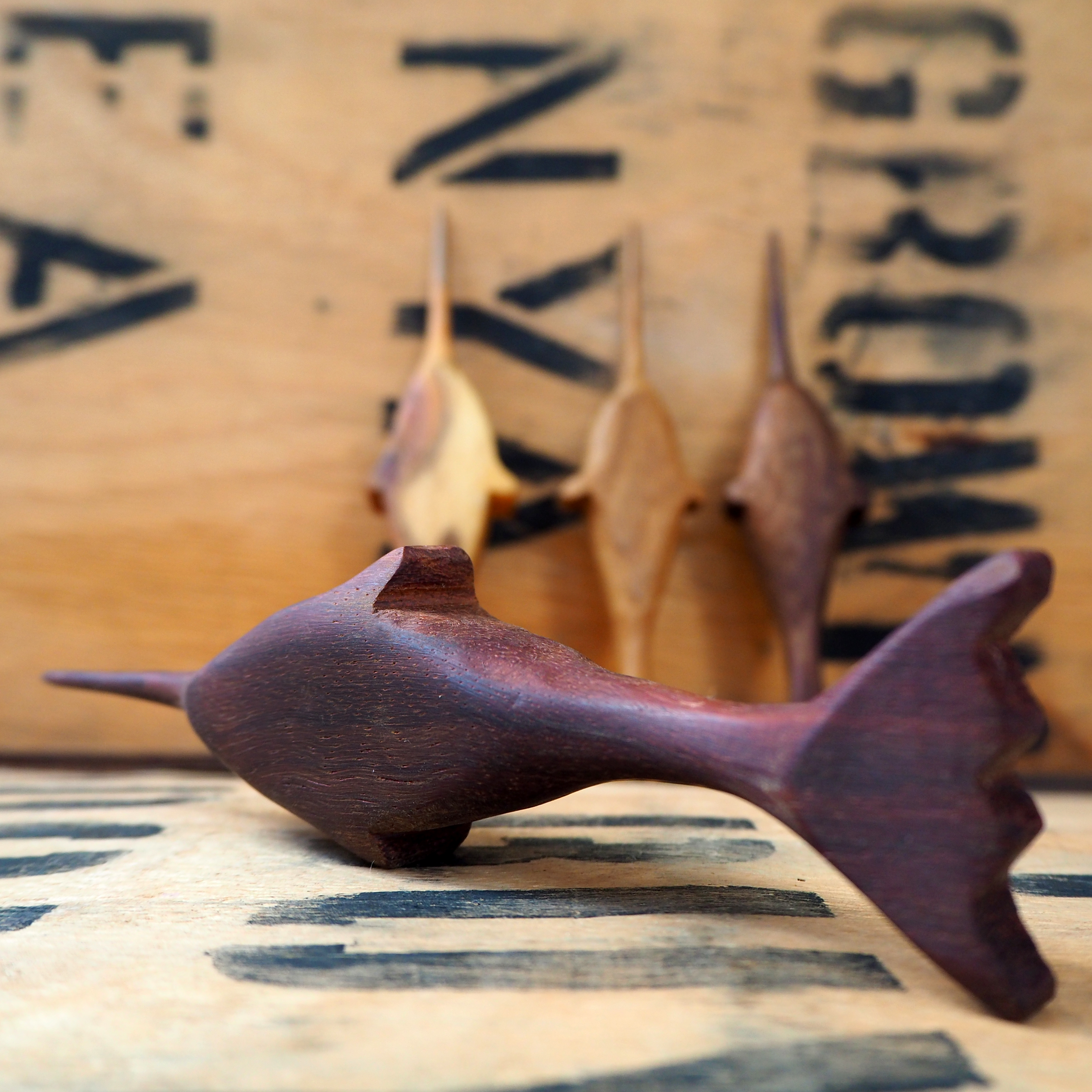 Dark Walnut Tea Ceremony Narwhal By Rosie Brewer