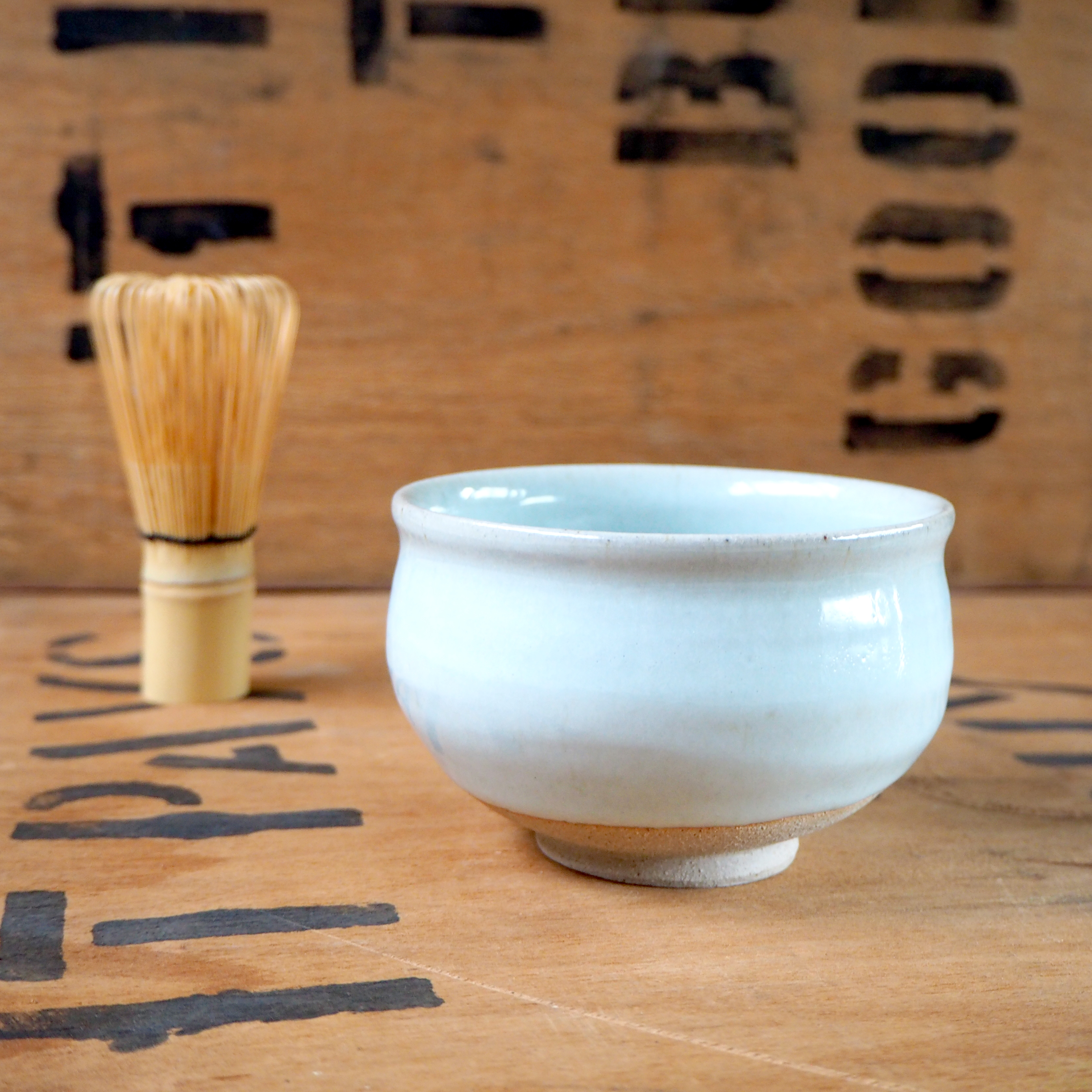 White Ash Matcha Bowl (2) by Jacob Bodilly