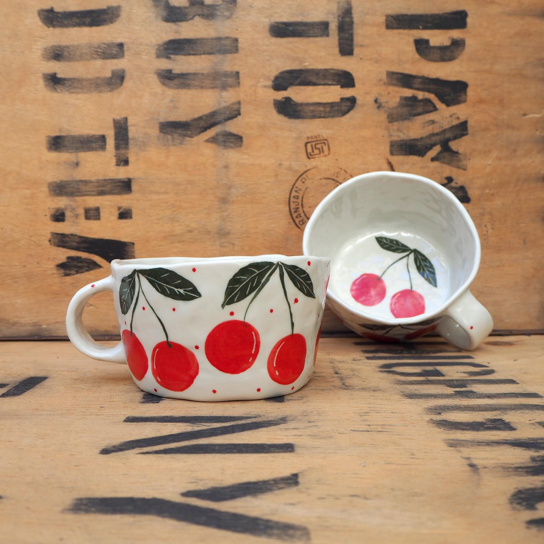 Cherry Mug by Som's Clay