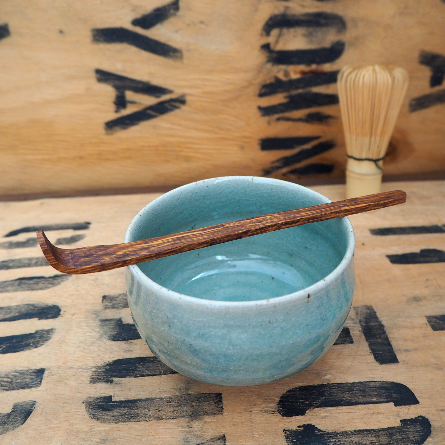 Oak Chashaku (Matcha Scoop) by Rosie Brewer