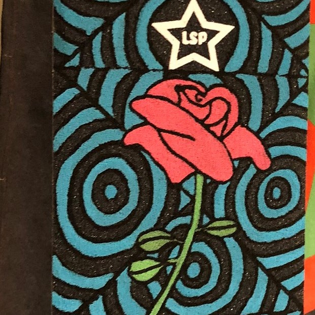 Custom griptape - rose med sirkler