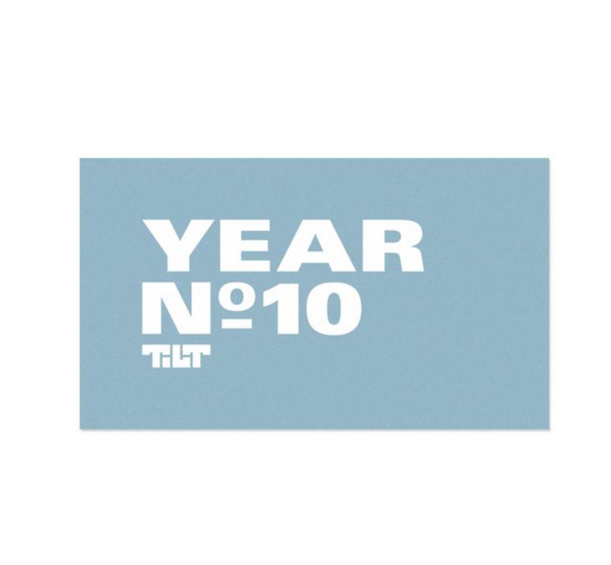 Tilt Ten Year Scooter Sticker