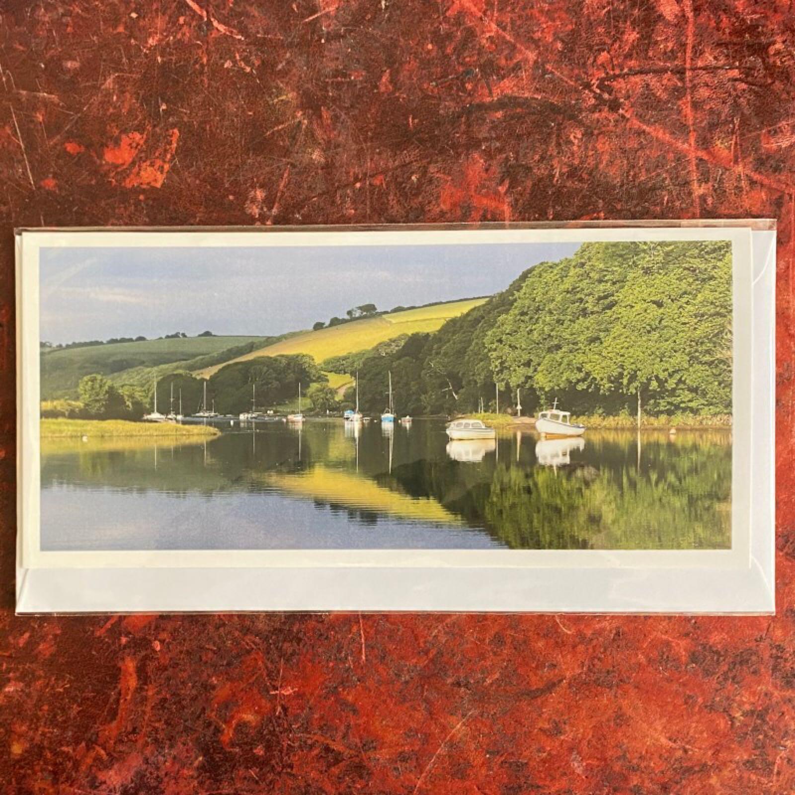 'Aveton Gifford Tidal Road' Blue Morpho Card