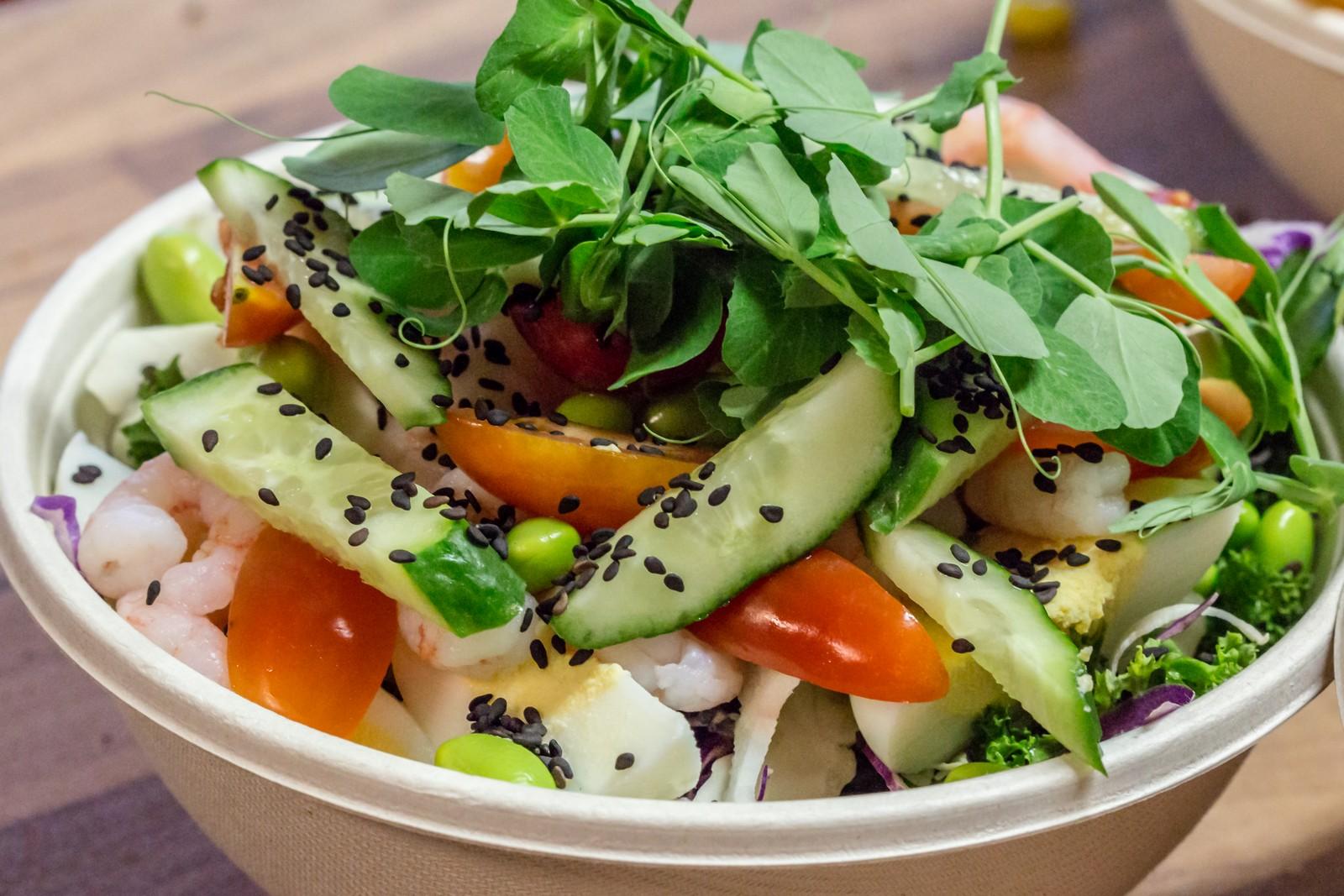 Salat - Æg og rejer
