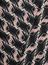 Fat Quarter – Canvas Caravan, schwarz (Kokka) derUwe