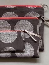 Nähkit – Reißverschlusstaschen Set, Punkte silber derUwe