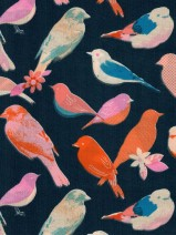Fat Quarter – Birds, dunkelblau (Ruby Star) derUwe
