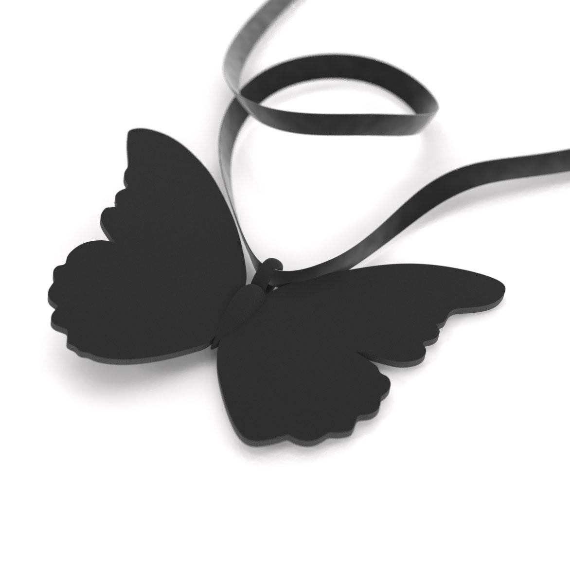 Butterfly Aurora Black, pendant