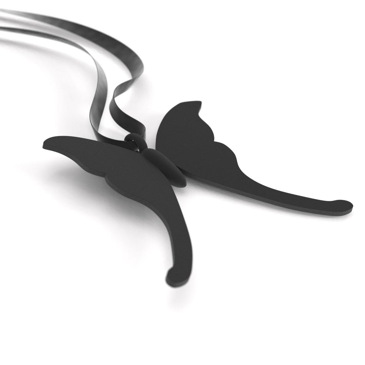 Butterfly Serafina Black, pendant