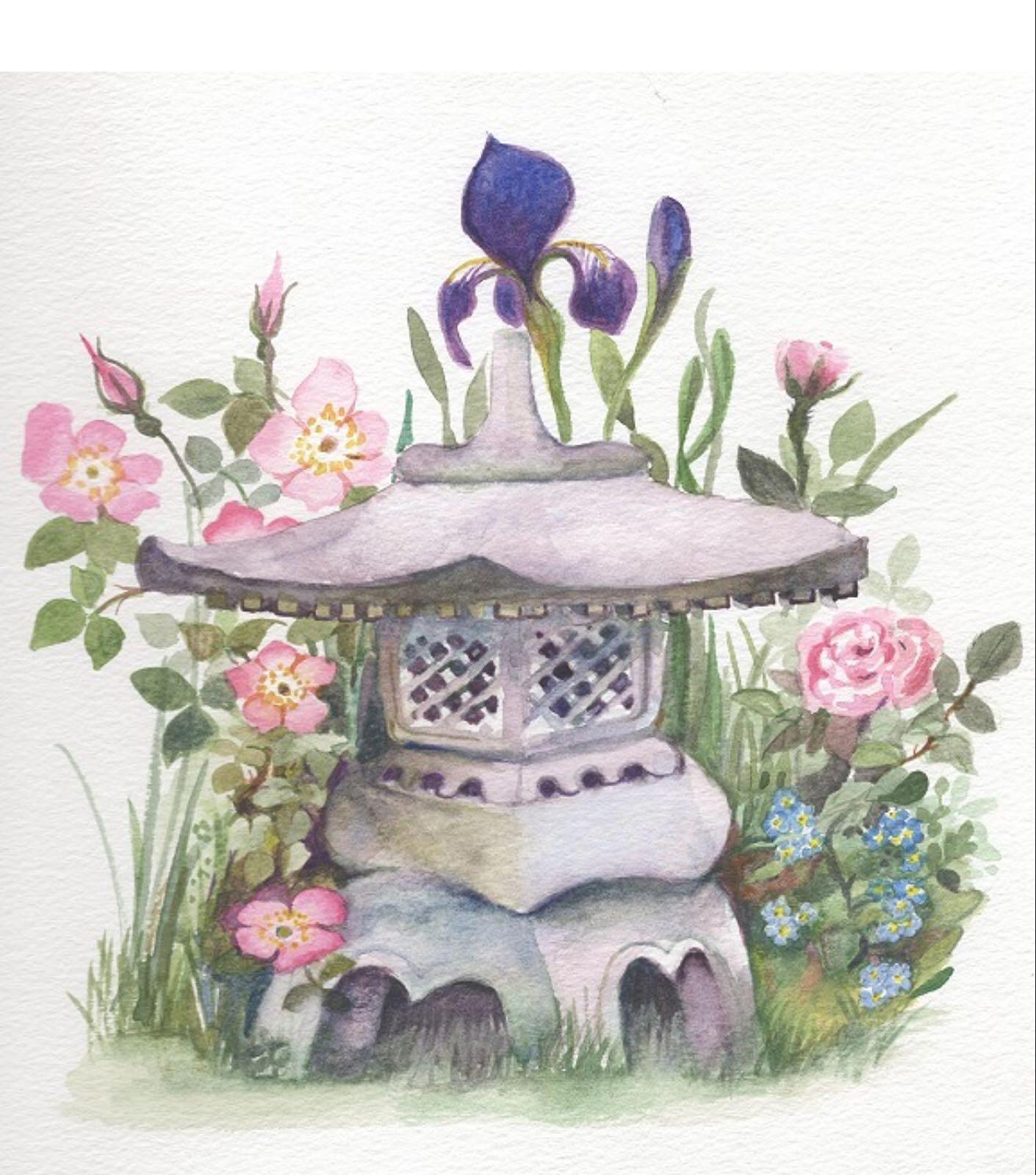 'Japanese Lantern' Furzedown Gallery Mini Card