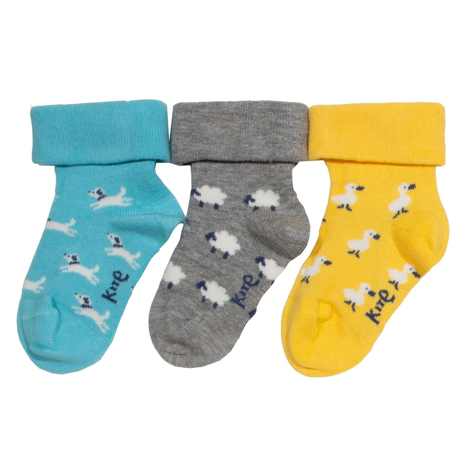 Kite 3pk Farm Garden Socks