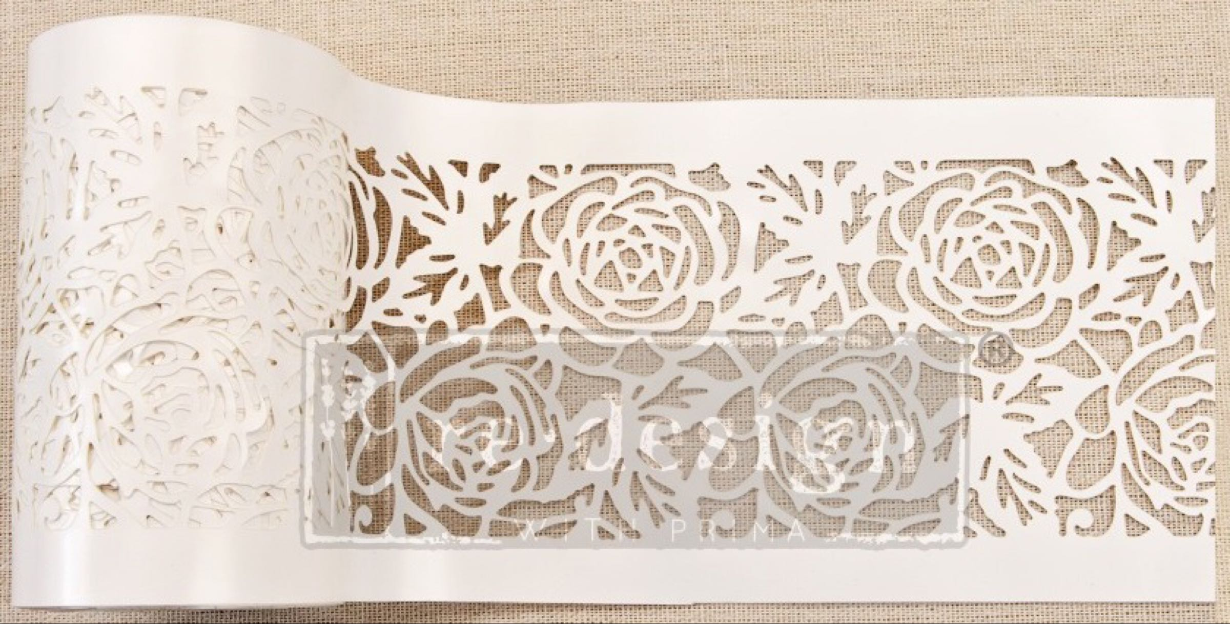 Re-design with Prima Stencil Roll - Tea Rose Garden (Special Order)
