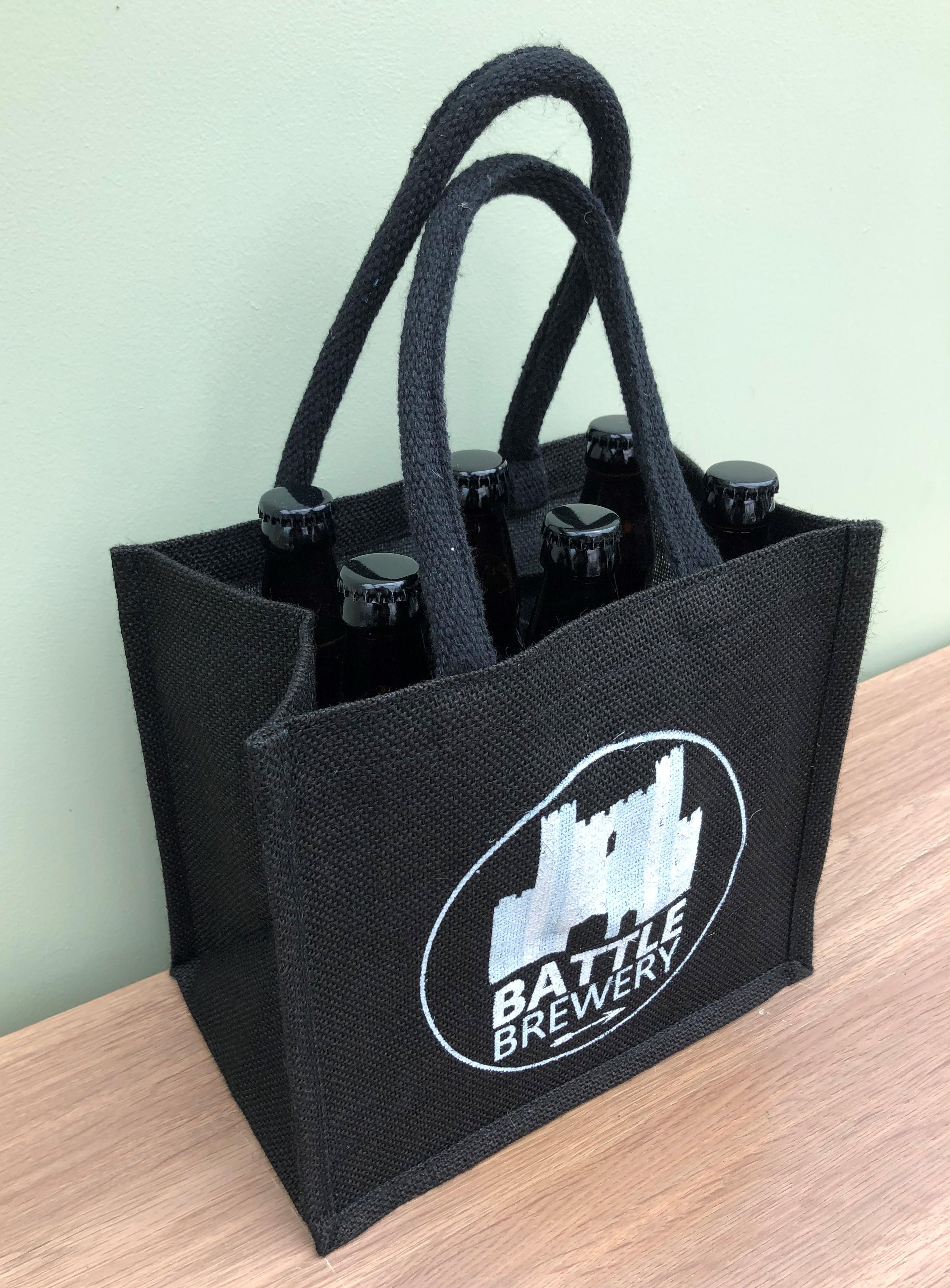 Jute Bottle Bag & 6 Bottles