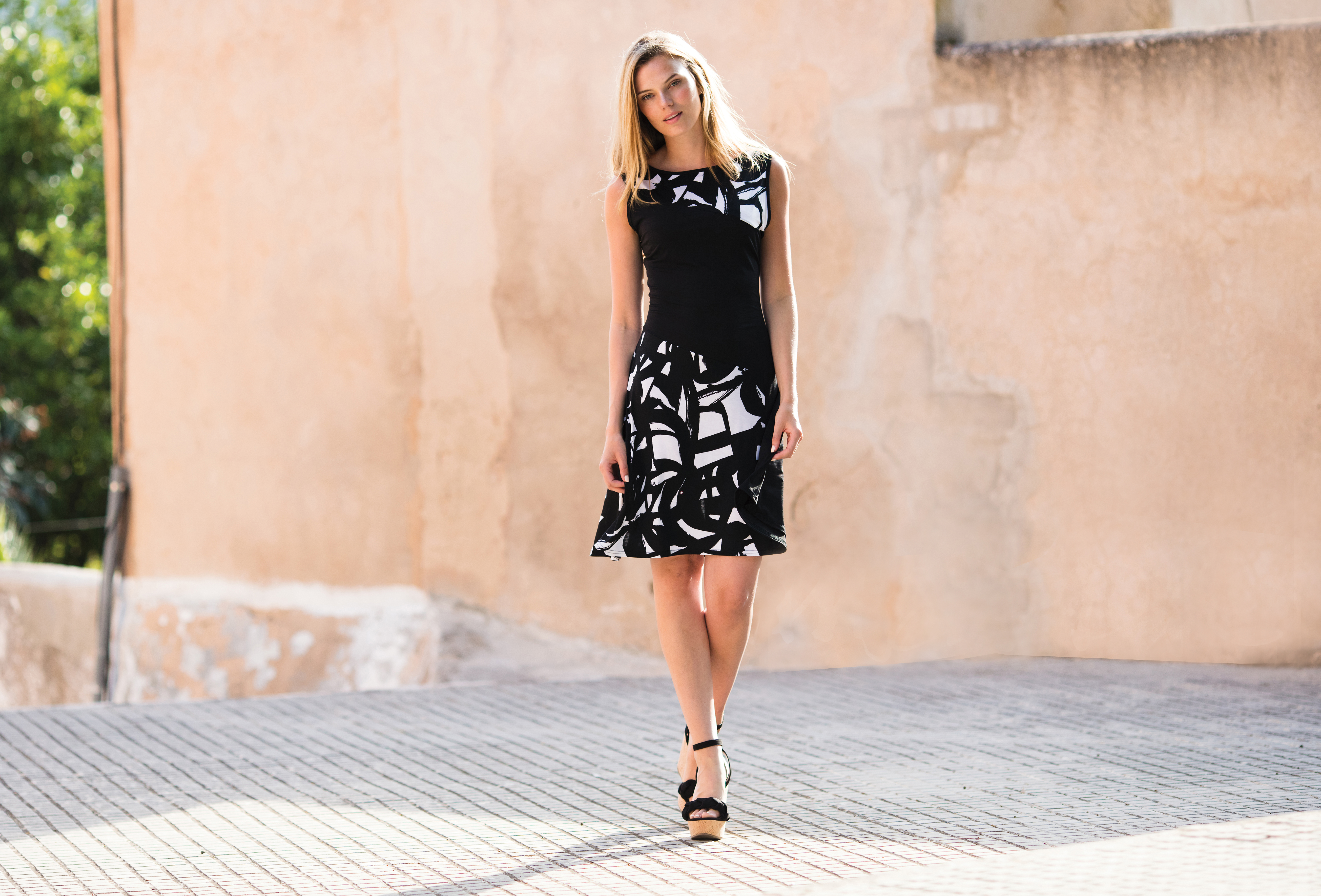 5347 MARBLE Sleevless Dress