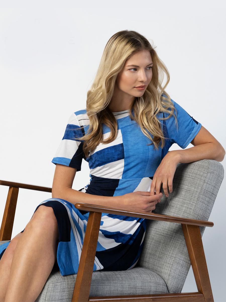 6197 MARBLE Fit & Flare Midi Dress