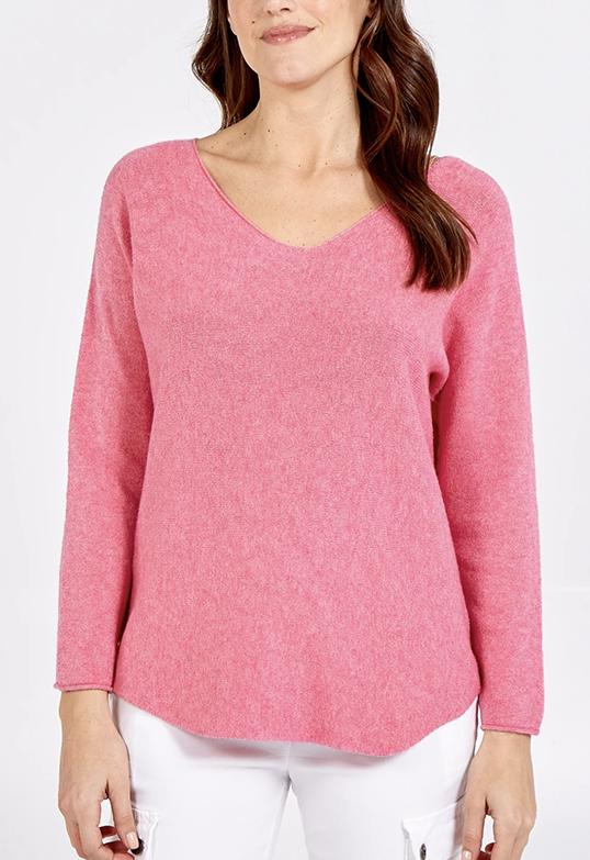 NV893 Curve V-neck Sweater