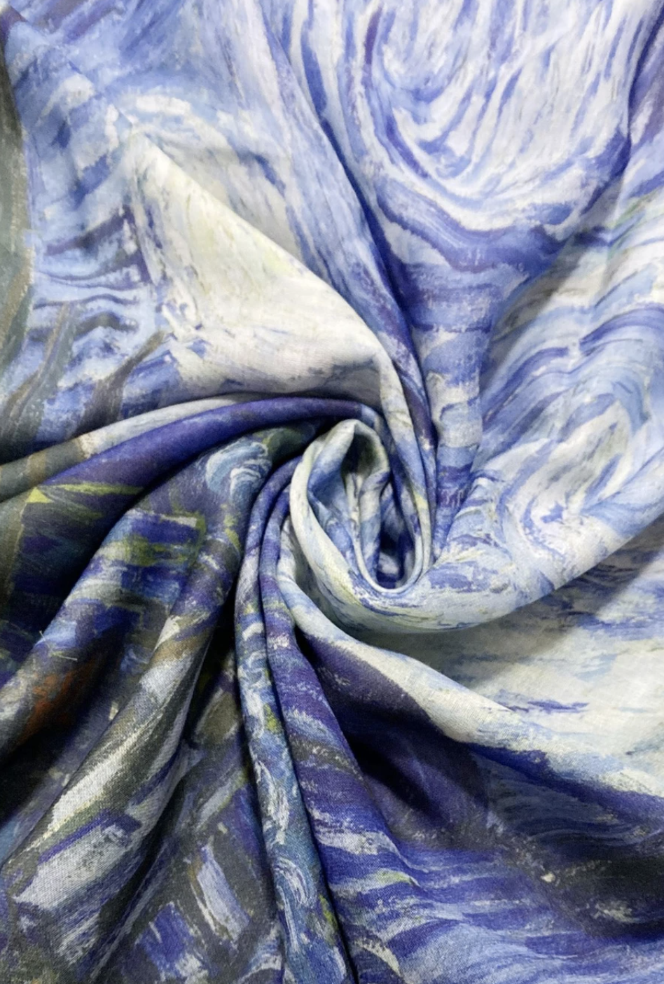 3458 Van Gogh Starry Night Print Scarf