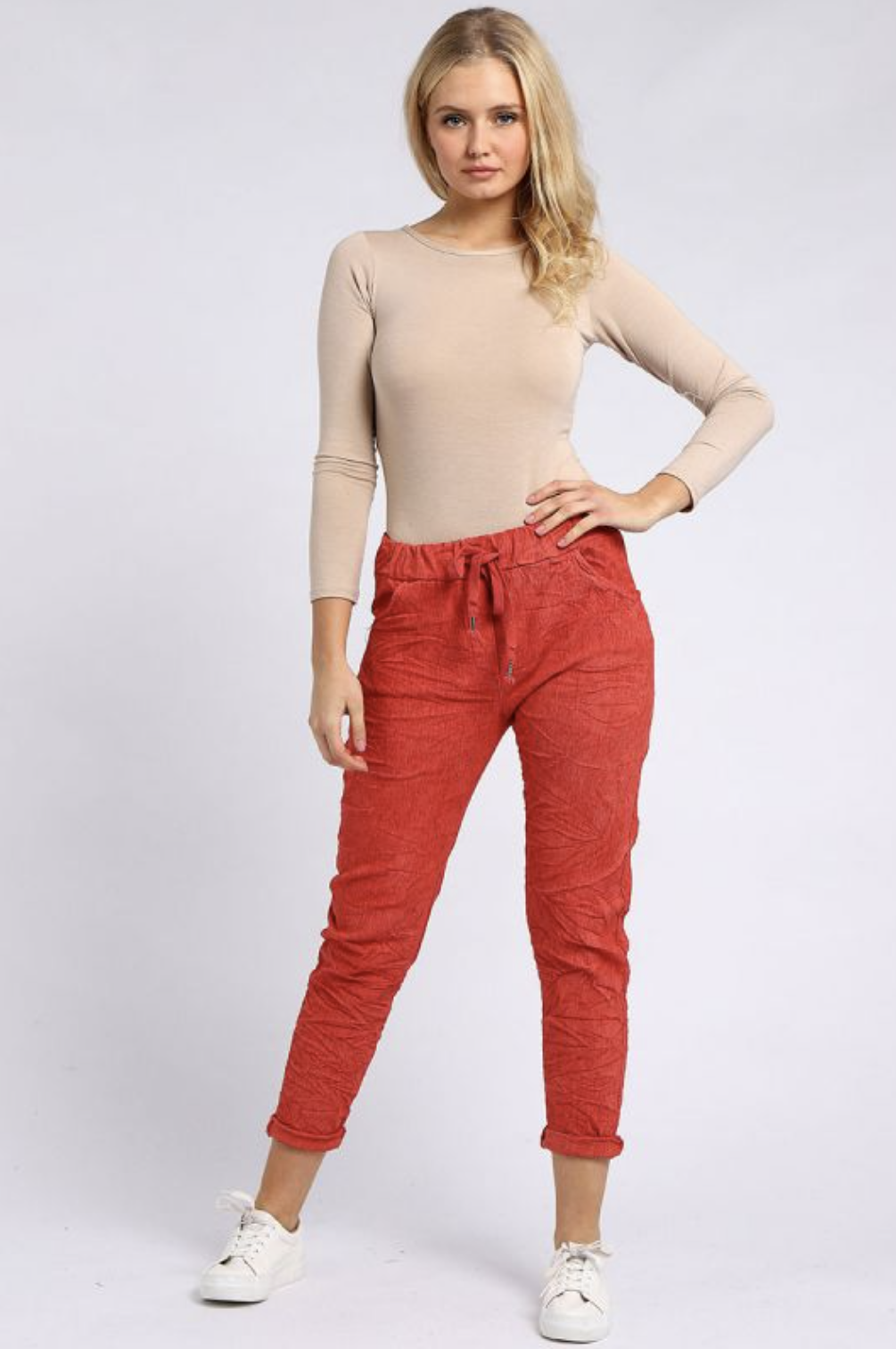 6002 Italian Ladies Plain Magic Pants