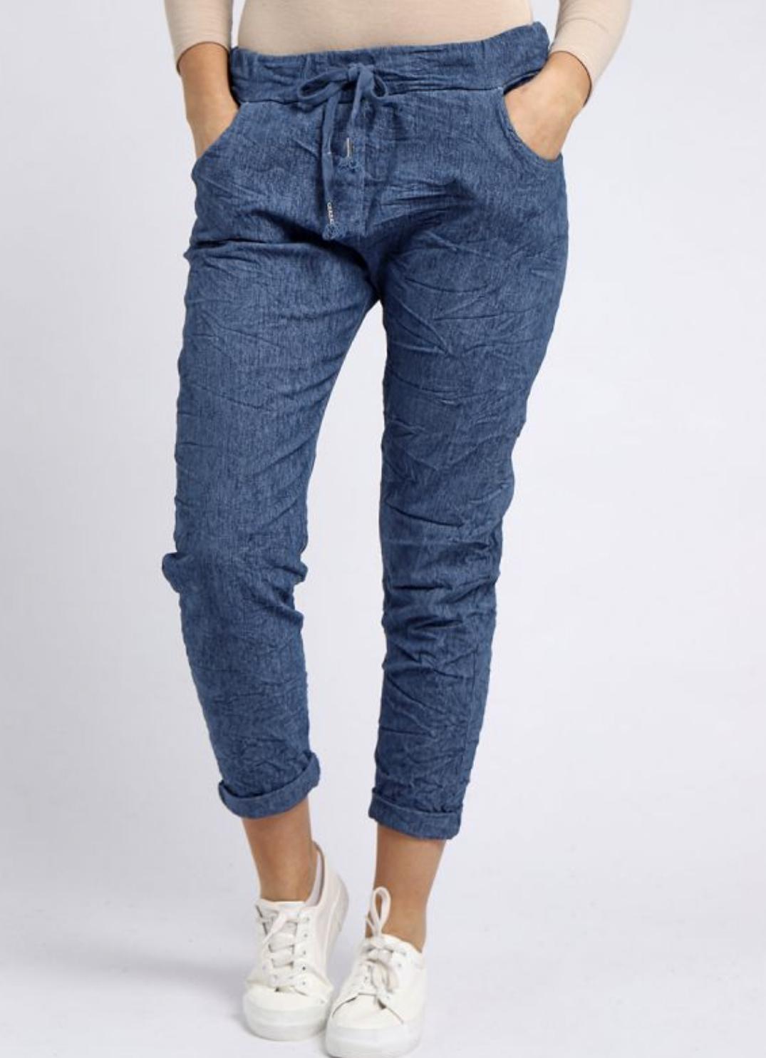 6002 Italian Ladies Plain Magic Pants
