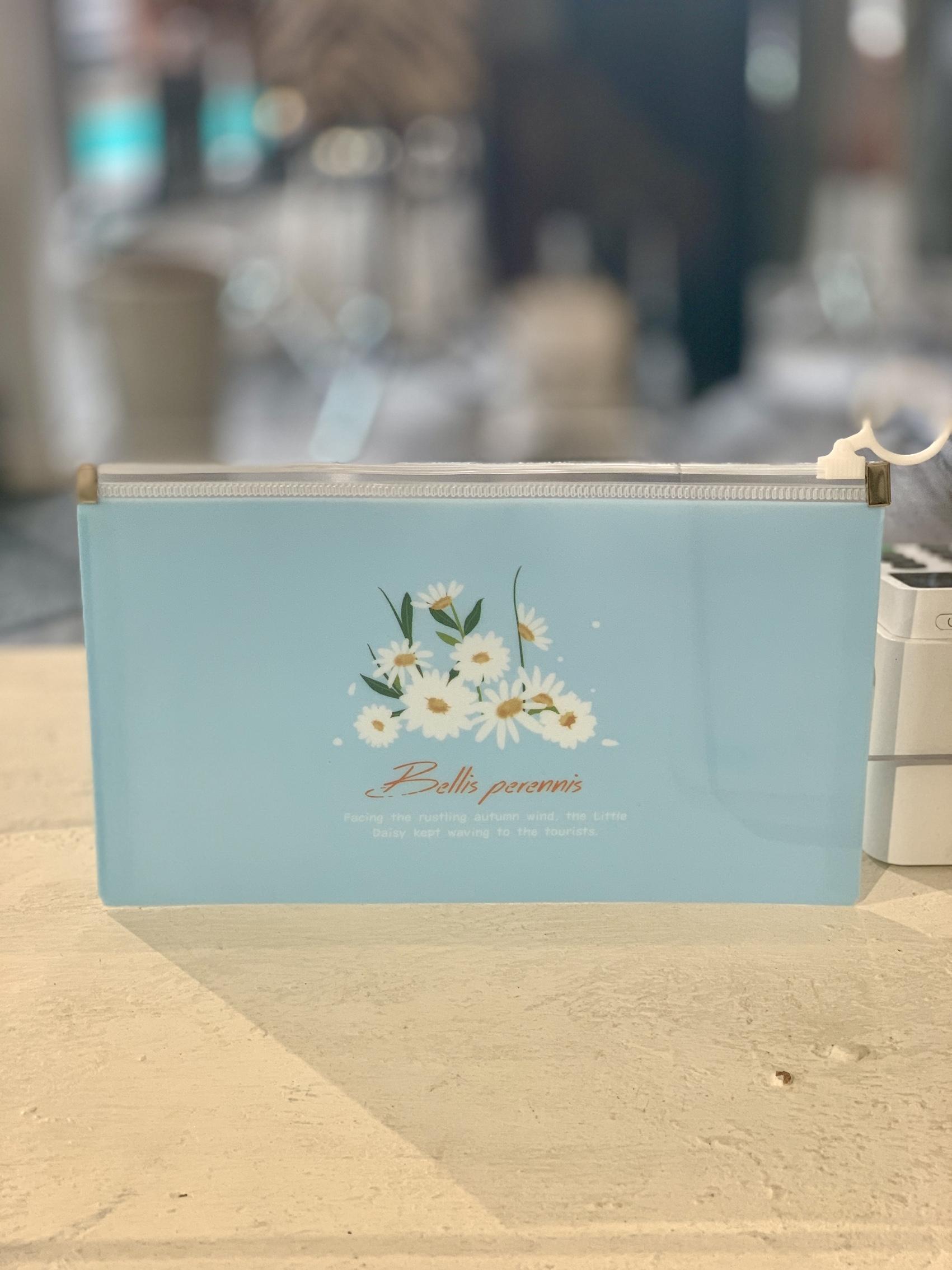 Mask Storage Floral Wallet