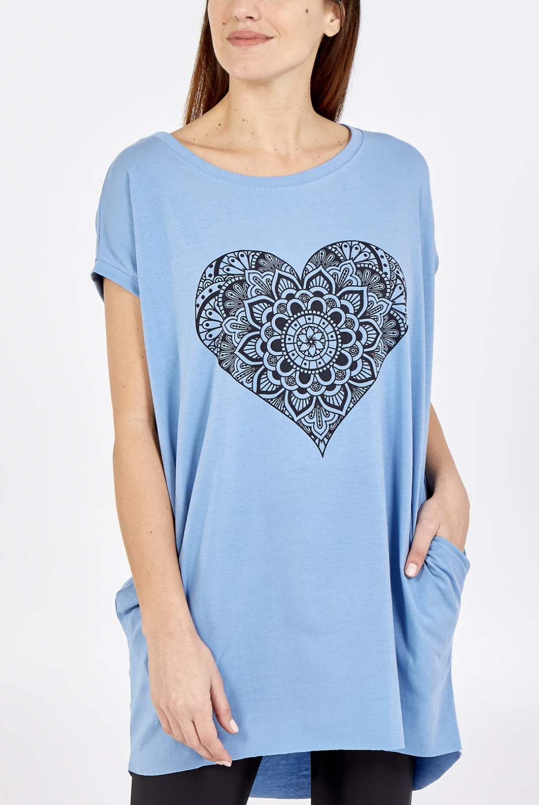 Floral Heart Tunic Tee