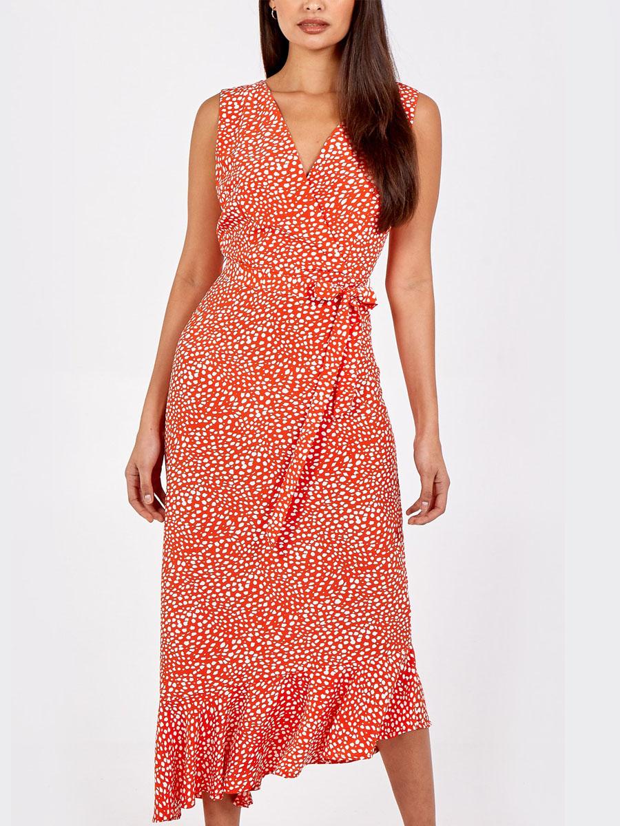 NL8851 Asymmetric Hem Maxi Dress