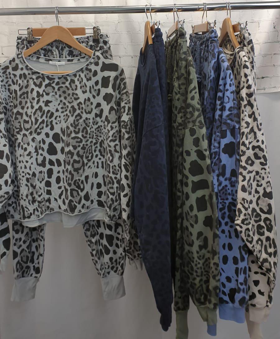 Leopard Print Sofa Wear Set