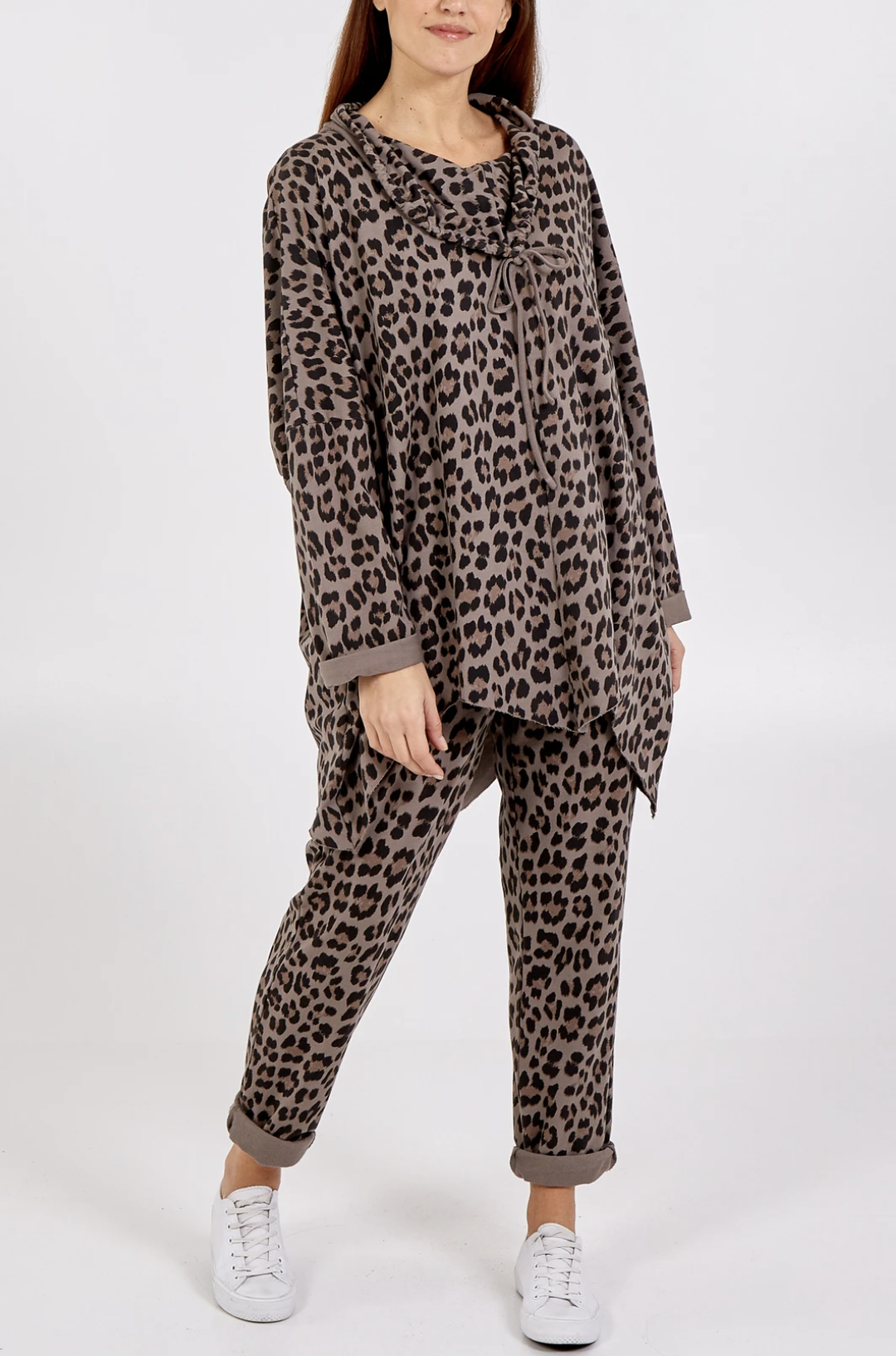 NV827 Leopard Print Jogger Set