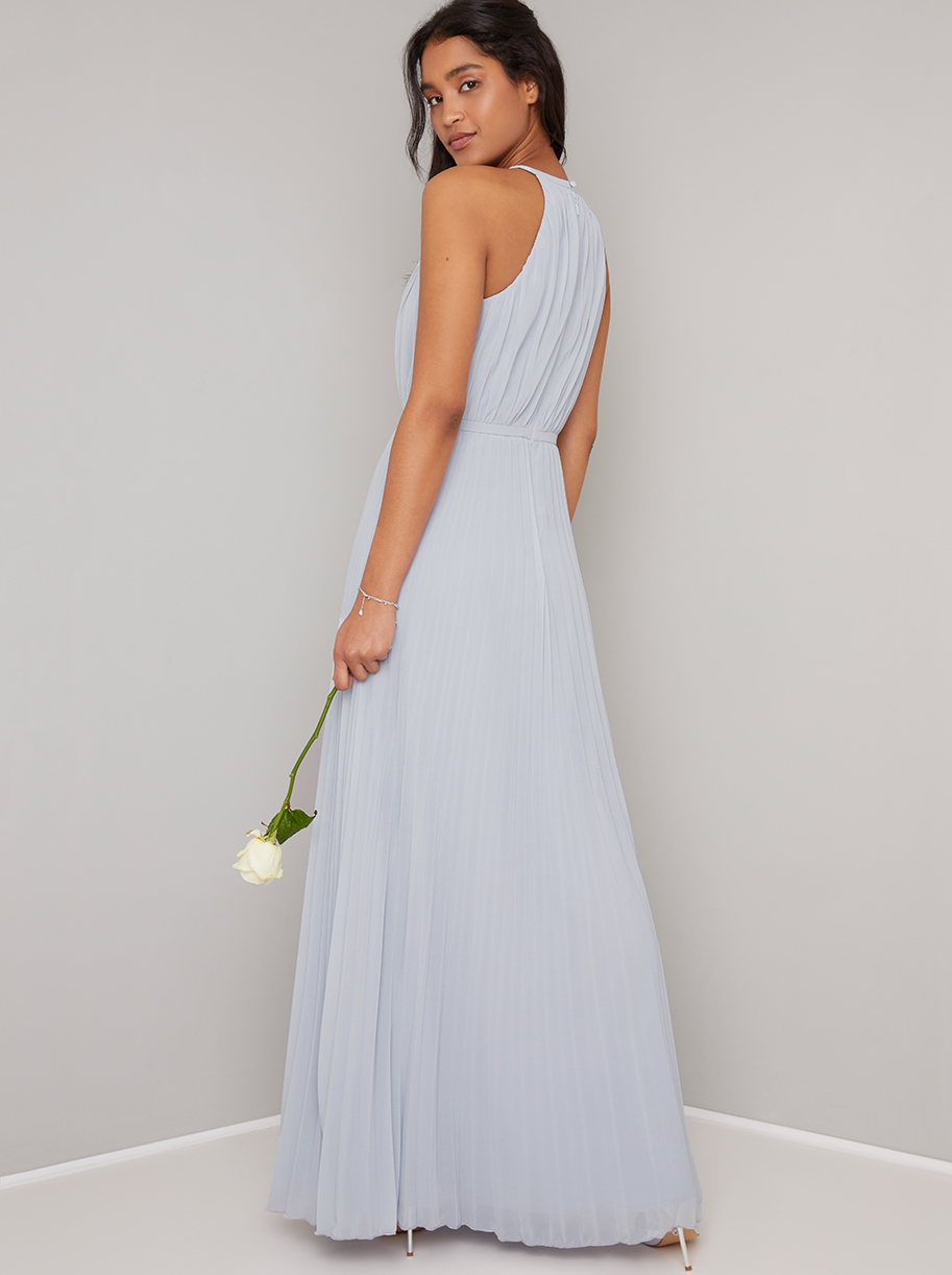 Morghan Pleasted Maxi Dress