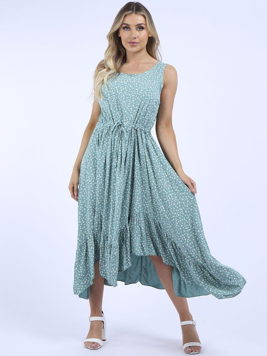 RW6394 Ruffle Hem Dress