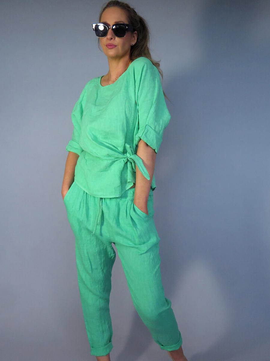 6816 DECK Linen Trousers