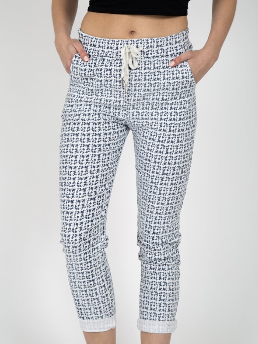 Geometric Print Jean