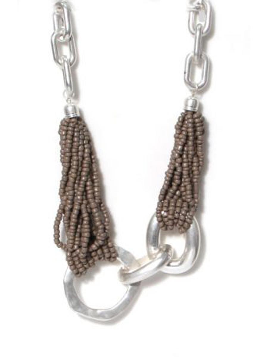 973 ENVY Chunky Beaded Short Necklace